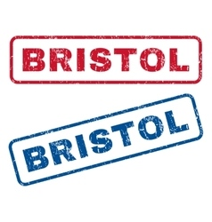 Bristol rubber stamps vector