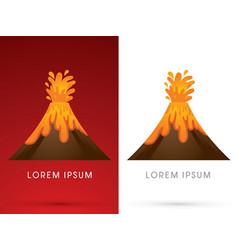 volcano erupting vector image