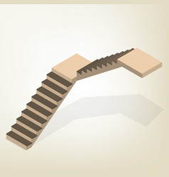 Flight of stairs isometric vector