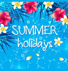 Blue summer background vector