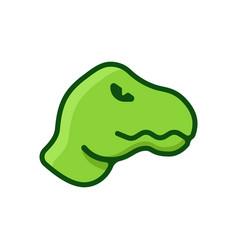 dinosaur flat logo vector image