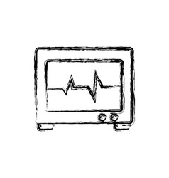 Electro cardio monitor device icon vector