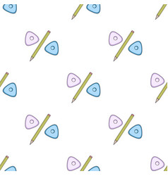 Pencil and sewing washsewing or tailoring tools vector