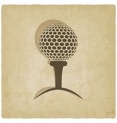 Sport golf logo old background vector