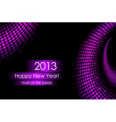 2013 purple snake card vector image vector image