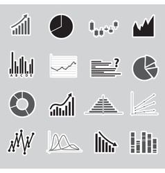 Graphs stickers eps10 vector