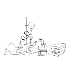 Doodle chemical laboratory vector