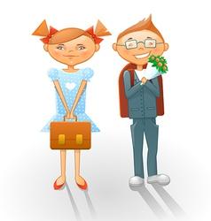 Cartoon school kids vector