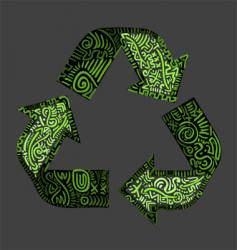 Recycle logo vector