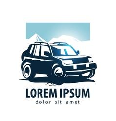 Car logo design template suv or transport vector