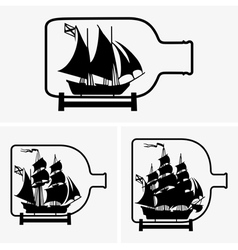 Ship in a bottle vector