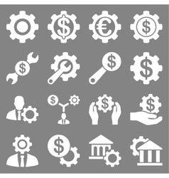 Financial tools and options icon set vector