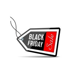 Black friday black price tag vector