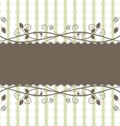 floral frame vintage style vector image