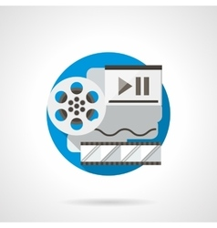 Film reel color detailed icon vector