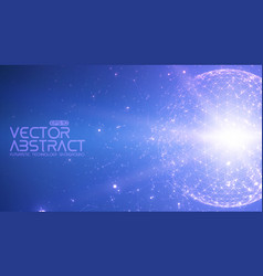 abstract space blue background vector image vector image