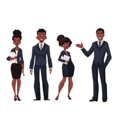 African American businessmen and businesswomen vector image vector image