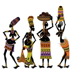 Africans womens vector image