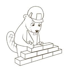 Beaver builder coloring book vector
