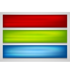 Bright smooth gradient banners vector image