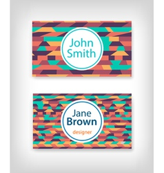 Business card design with ethnic pattern vector