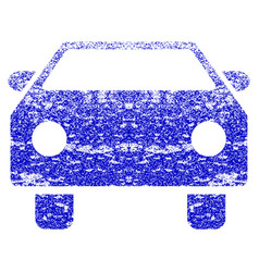 Car grunge textured icon vector