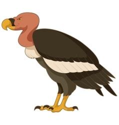 Cartoon smiling Vulture vector image vector image
