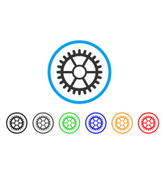 clock wheel rounded icon vector image