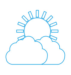 cloud and sun icon vector image