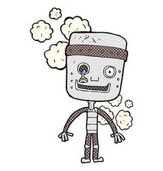 Comic cartoon funny robot vector
