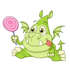 Dragon baby with candy vector image vector image