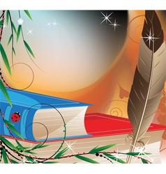 Fairytales books vector