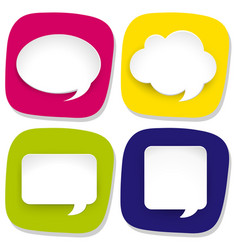 Four icons with speech bubbles vector