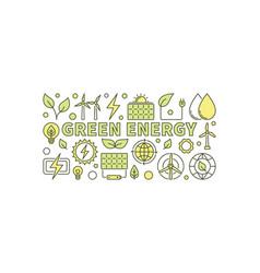 green energy concept vector image vector image