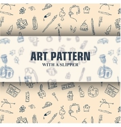 Hand-drawn pattern with slippers vector