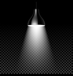Hanging lamp on black transparent background vector