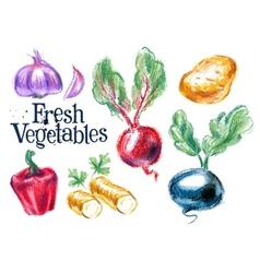 Harvest logo design template fresh food vector