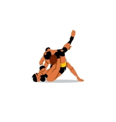 Martial Arts sign Two men fighting vector image vector image