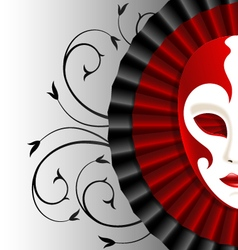 Mask with satin frill vector