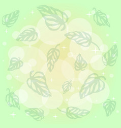Pattern of green leaves monstera on background of vector