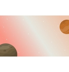 Planet space nature landscape vector