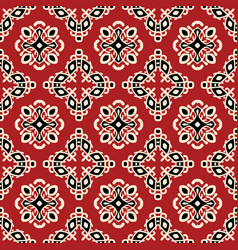 red tribal ethnic seamless pattern vector image