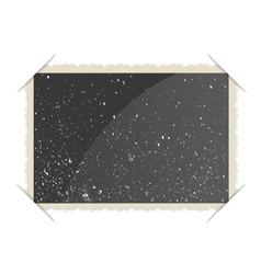 Retro Photo Frame On White Background vector image