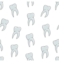 Seamless blue teeth pattern on white background vector