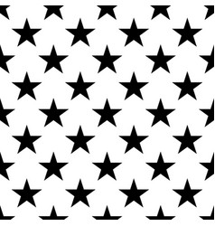 Seamless pattern of black five-pointed stars on vector