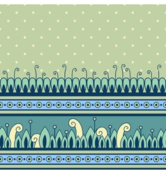 Seamless pattern with decorative border vector image