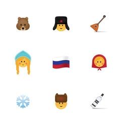 Set of russian emoticon vector