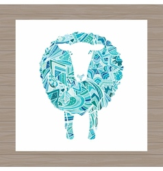 Sheep with New Year ornaments vector image