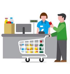 shopping food supermarket vector image vector image