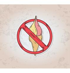 Sign entry ban ice cream vector